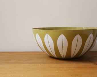 "Cathrineholm mustard and white lotus bowl 11"""
