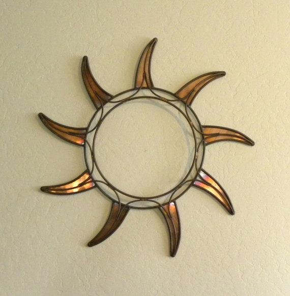 copper sun wall art home decor by steelandtwig on etsy. Black Bedroom Furniture Sets. Home Design Ideas