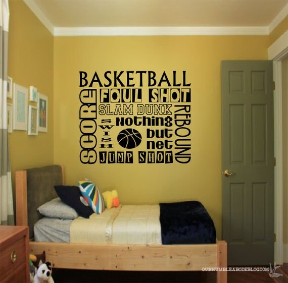 Sports Collage Wall Decor : Basketball collage wall decal sports decals