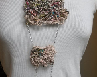 Tiered Junk Mail Knit Necklace