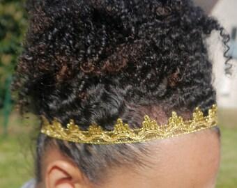 Headband Ruban Doré /Headband courone