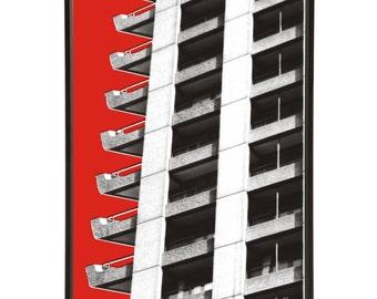Brutalist Architecture Barbican Estate Pop Art Print Modernist Modernist Mid-Century Brutalism London Buildings Barbican Centre 1960s