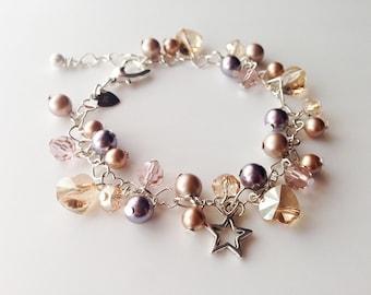 Elegant Swarovski Sparkle Charm Bracelet