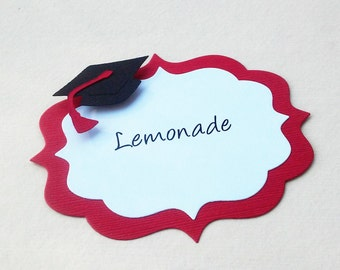 Graduation Candy Buffet Labels - Graduation Decor - Graduation Candy Labels - Graduation Theme - Set of 10 Labels - Hootsie