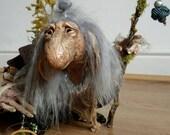 CUSTOM - Extra Large OOAK Fantasy Fae Poseable Art Doll Character (The Dark Crystal)