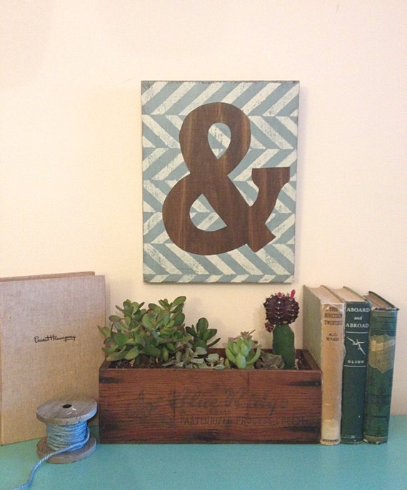 Wooden Wall Decor For Nursery : Wood ampersand wall decor nursery