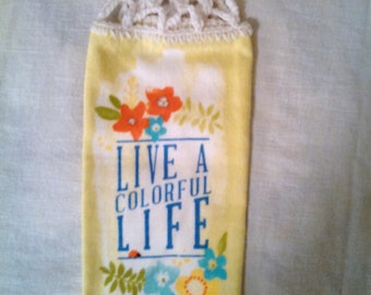 Live a Colorful Life Hanging Kitchen Towel