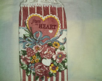 Knob Style From the Heart Hanging Kitchen Towel