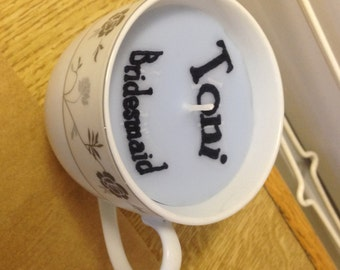 Tea Cup Candle