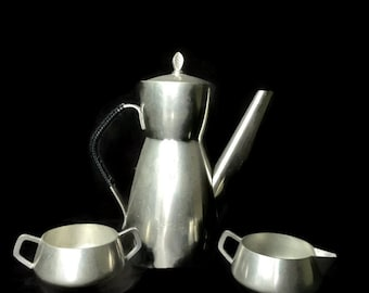 Vintage Mylius Brodrene Mid Century Modern Danish Pewter Coffee/Tea Set