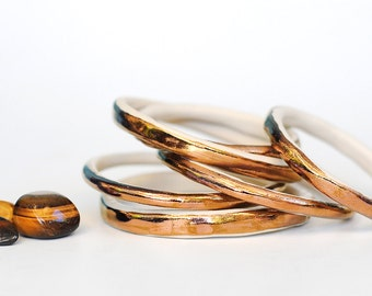 COPPER DREAMS - Ceramic Stoneware Bangle