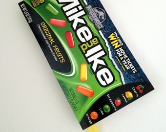 Mike and Ike Original Fruits Recycled Candy Box Journal / Notebook