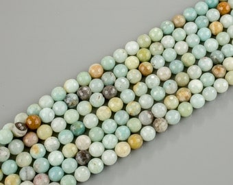 AMAZONITE faceted round sizes.  4mm, 6mm, 8mm, 10mm, 12mm, 14mm