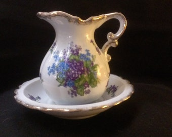 Lefton Spring Bouquet Bowl and Pitcher  (505)