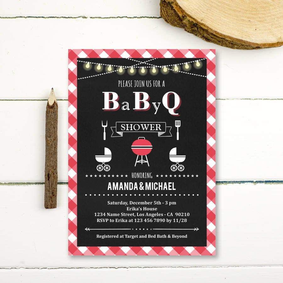 bbq baby shower invitation baby q shower by paperpartydesign