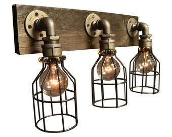 vanity light - home lighting - light fixture - bathroom light - house living - edison bulb - vanity lamp - home decor - wood vanity light