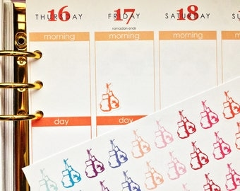 30 Hanging Boxing Gloves Stickers! Perfect for your Erin Condren Life Planner, Filofax, Plum Paper & other planner or scrapbooking!