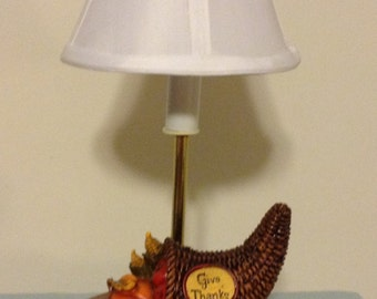 Thanksgiving Cornucopia Lamp