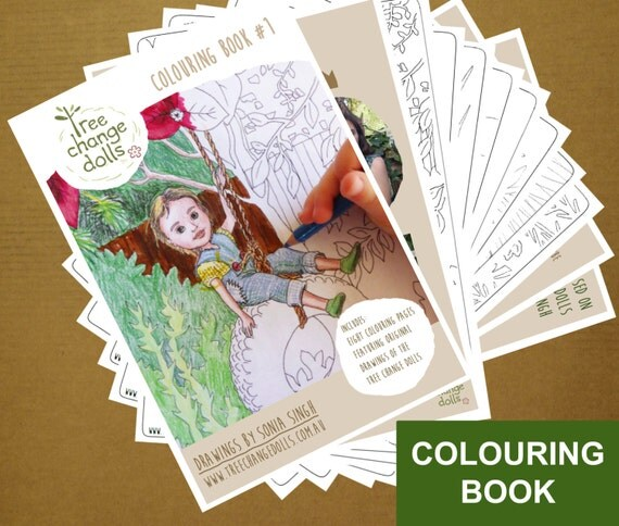 Original Tree Change Dolls ® Colouring Book, original drawings by Sonia Singh
