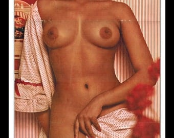 "Mature Playboy March 1965 : Playmate Centerfold Jennifer Jackson 3 Page Spread Photo Wall Art Decor 11"" x 23"""
