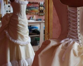 Victorian Wedding Ball Gown ~ Gothic Steampunk Masquerade Bridal Bustle Dress ~ Historical Costume ~ 19th century dress