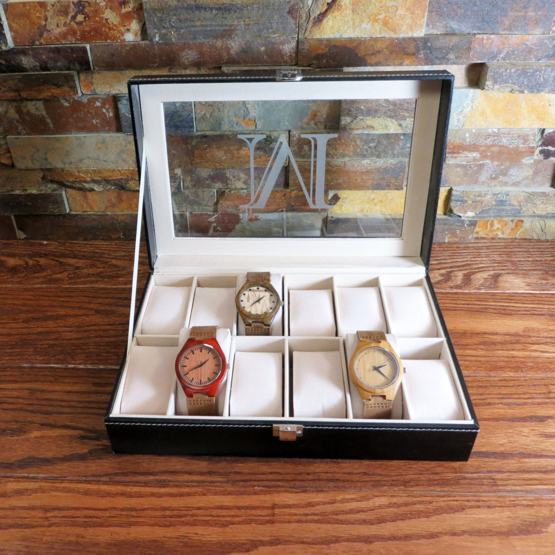 Personalized Watch Box Engraved Groomsmen Gift Best Man
