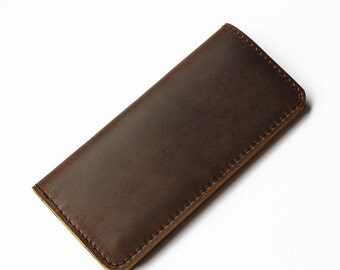 Checkbook Wallet Long Wallet Womens Leather Wallet Leather wallet Woman Checkbook Wallet Mens Leather Wallet Men Handmade Leather Wallet Men