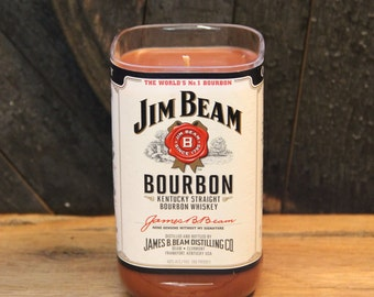 Jim Beam Whiskey Candle, Uncle Gift, Perfect Gifts For Guys, Bourbon Gift, Whiskey Present, Soy Candle, Bourbon Candle / Valentines Gift