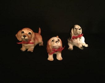 Set of Three Tiny Ceramic Dogs                                                                      VG1694