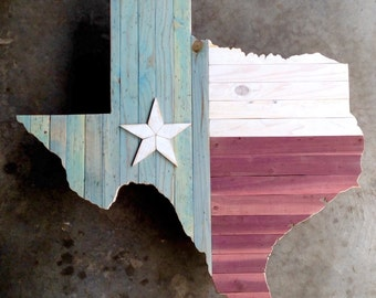 Texas Pride Distressed Wall Decor (Made-To-Order)