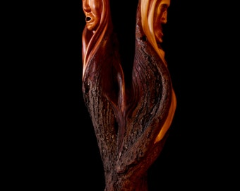"""Wood Carving, Diamond Willow, Spirit Faces, """"Whispering Willows"""""""