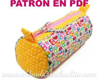 Patrón PDF - Estuche Neceser Circular. Descarga inmediata. EN ESPAÑOL