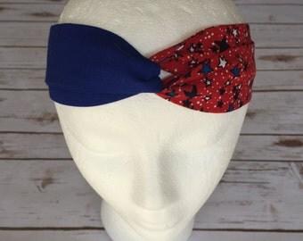 Patriotic Turban Headband - 4th of July Turban Headband