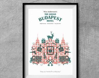 The Grand Budapest Hotel Alternative Movie Poster - Icon Artwork