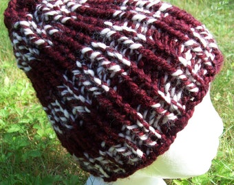 "Ribbed ""Cherry Cordial"" Maroon Beanie"