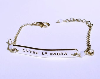 Bracelets with custom engraving (bronze-plated)
