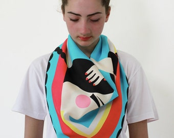Silk Scarf 'Mask'