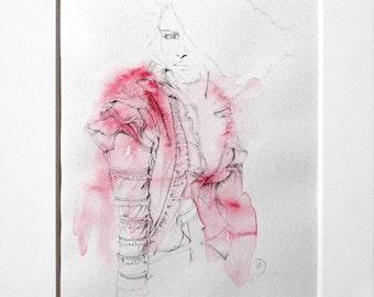 Pretty in Pink  ||  Watercolour Fashion Illustration