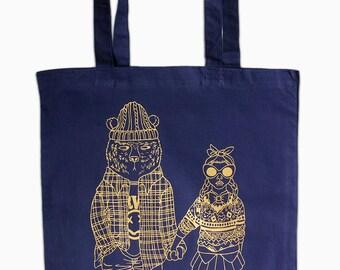Goldilocks + Baby Bear, Tote Bag