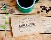 Pacific Northwest Favor Bag - Wedding or Party - Portland Oregon Coffee Favors Bags - 25 Grease Resistant Bags
