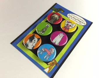 Chinese Crested Six Piece Magnet set