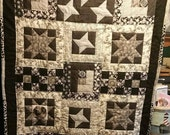 K-Lee's Kreations Original Design Fully Customized Crib Quilt or Small Lap Quilt Featuring 4 Quilt Block Designs