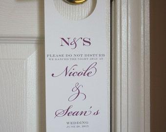 Wedding Door Hanger, Please Do Not Disturb Sign, Wedding Welcome Bag, Hotel Door Hanger, Destination Wedding, Wedding Favor, Personalized