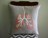 Science Diagram Pillow - Lungs // Anatomy // Medicine // Pulmonologist // COPD // Asthma // Transplant Gift // Doctor // Medical School