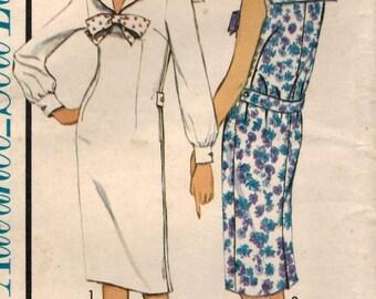 1960s Advance 3430 UNCUT Vintage Sewing Pattern Junior's Sailor Dress Size 9 Bust 30-1/2