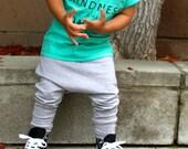 Baby Girl Baby Boy Light Heather Grey Harem Pants: Etsy kid's fashion, toddler boy, toddler girl