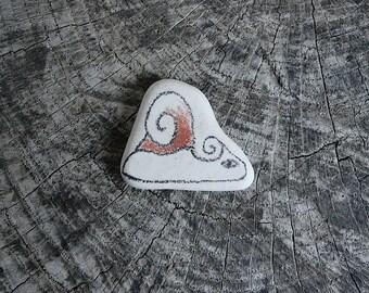 Beach Pottery Snail