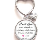 Mother of the Bride Gift, Personalized Keychain, Mother of the Bride Keychain, Wedding Kechain, Style 582