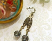 Art Deco Jewelry - Gatsby Earrings  - Art Deco Earrings - Jewellery - ZELDA Black Diamond