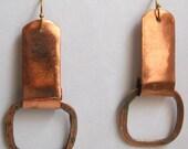 Copper Doorknocker Earrings